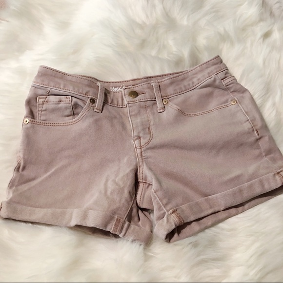 Mossimo Supply Co. Pants - Mossimo Midi Jean Shorts size 0/25R Blush Pink 4""